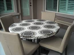 Round Table Granite Bay Incredible Round White Vinyl Elastic Table Covers Colorful Flower