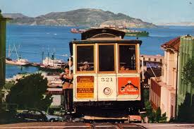 San Francisco Cable Car Map by Alcatraz And The San Francisco Bay In The Background Tram Travels