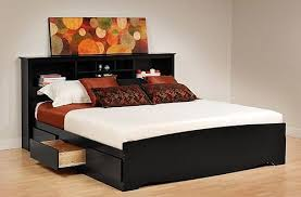 King Size Headboard With Storage Spacious Excellent Captivating King Size Platform Bed Plans With