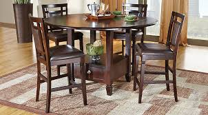 dining room sets landon chocolate 5 pc counter height dining set dining room sets
