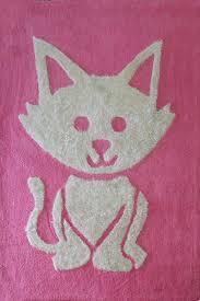 Cat Area Rugs 4 Ft X 6 Ft Pink Children Bedroom Area Rug With Cat Design Soft