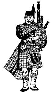 coloriage pays et regions ecossais à colorier allofamille
