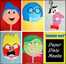 inside out u0027 paper plate masks u2013 the pinterested parent