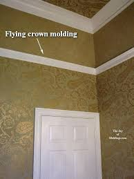 Bathroom Crown Molding Ideas Bathroom Crown Molding Ideas Flying Crown Molding On Wall
