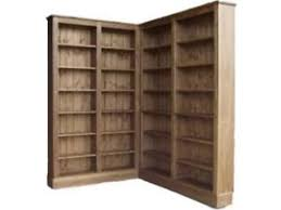 corner bookcase solid pine corner bookcase 6ft 8 waxed l shaped display