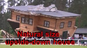 natural size upside down house szymbark in poland youtube