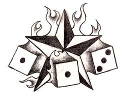 burning star u0026 dices tattoos gallery design sketches star