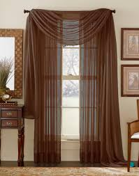 How To Hang A Valance Scarf by Stylemaster Elegance Sheer Curtain And Scarf Panels U2013 Cranberry