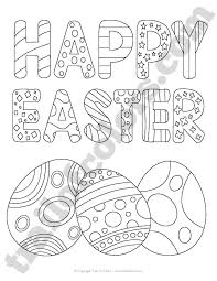 happy easter coloring kids trail colors