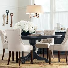 Black And White Upholstered Chair Design Ideas Black And White Dining Room Set Plans Iagitos
