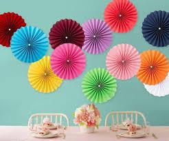 tissue paper fans 2018 wholesale 30cm 12 inch tissue paper fans flowers pom poms
