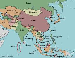 middle east map with country name the map of asia countries major tourist attractions maps