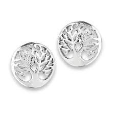stud earing silver tree of stud earring