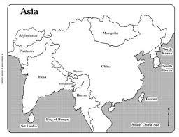 asia map with labels map of asia with labels mexico map