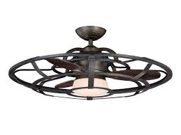 District Pewter Extraordinaire Cage Ceiling Fan Fans Home