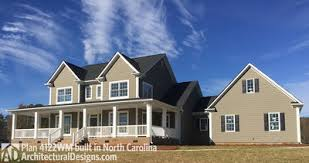architectural designs country home plan with marvelous porches 4122wm architectural