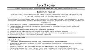 Substitute Teacher Job Description For Resume Substitute Teacher Resume Example The 25 Best Teacher Resume