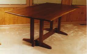 Walnut Slab Table by Nakashima Style Rustic Walnut Slab Custom Dining Table Dumond U0027s