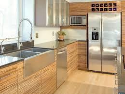 modern kitchen cabinets l shaped dark wood black knobs flat