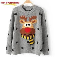 tryeverything deer sweater winter 2017cotton
