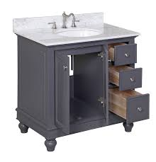 kitchen bath collection kbc2236gycarr bella bathroom vanity with