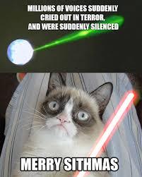 Star Wars Cat Meme - grumpy cat star wars mashup merry sithmas humor pinterest