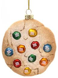 ornaments m m cookie glass ornament contemporary