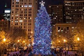 when is the chicago tree lighting time set for