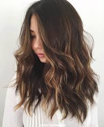 partial red highlights on dark brown hair circle barrette style idea soft waves beauty department and