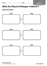 what are physical changes in matter 3rd 5th grade worksheet