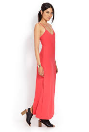 forever 21 woven crossback maxi dress in red lyst