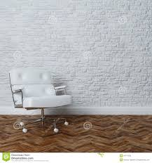 White Leather Armchairs Stylish White Leather Armchair In Classic Interior Design Stock