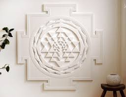 Spiritual Home Decor Sri Yantra Spiritual Wall Art For Meditation By Sevenateliers