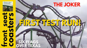 Six Flags Tennessee The Joker 4d Roller Coaster Completes 1st Test Run At Six Flags