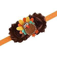 thanksgiving fall turkey pumpkin owl felt brown gold headband baby