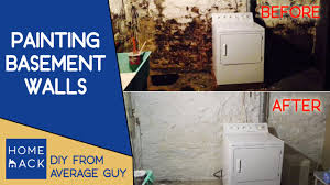 painting basement stone walls normal guy paints cellar youtube
