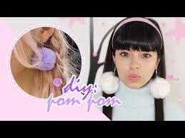 grande earrings diy pom pom earrings moda japonesa akari beauty