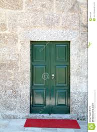 Front Door Red by Green Front Door And Red Carpet Stock Images Image 1601214