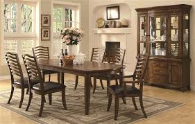 Coaster Dining Room Sets Avery 7 Pc Dining Table Set In Brown Oak Finish By Coaster 103541