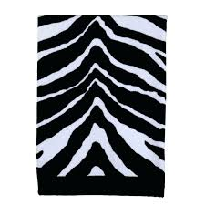 Zebra Bath Rug Black And White Bathroom Rugs Black And White Bath Rug