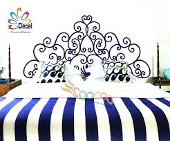 wall size decals headboard decal vinyl wall decal floral pattern
