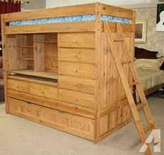 Bunk Bed With Desk And Trundle Kid S Loft Bed W Trundle Desk Dresser Storage Mattress