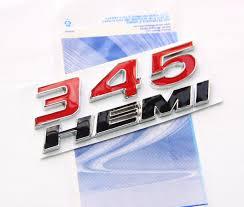 Dodge Challenger Decals - amazon com yoaoo 2x new chrome oem 345 hemi 345hemi emblems