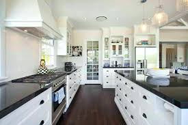 Pictures Of Kitchens With White Cabinets And Black Countertops Top Best White Granite Colors For Kitchen White Cabinets With