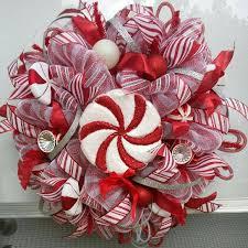 peppermint wreath candy deco mesh wreath christmas candy wreath