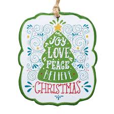 die cut ornament of christian gifts
