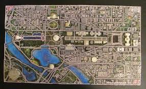 washington dc map puzzle 4d washington d c 1100 puzzle diy