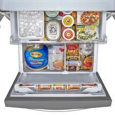 Refrigerator With French Doors And Bottom Freezer - kenmore elite 73133 24 2 cu ft french door bottom freezer