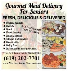 Gourmet Food Delivery Meal Delivery For Seniors Martha S Senior Gourmet Torrance Ca