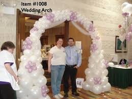 wedding arch balloons balloon arches 1008 wedding balloon arch up with balloons